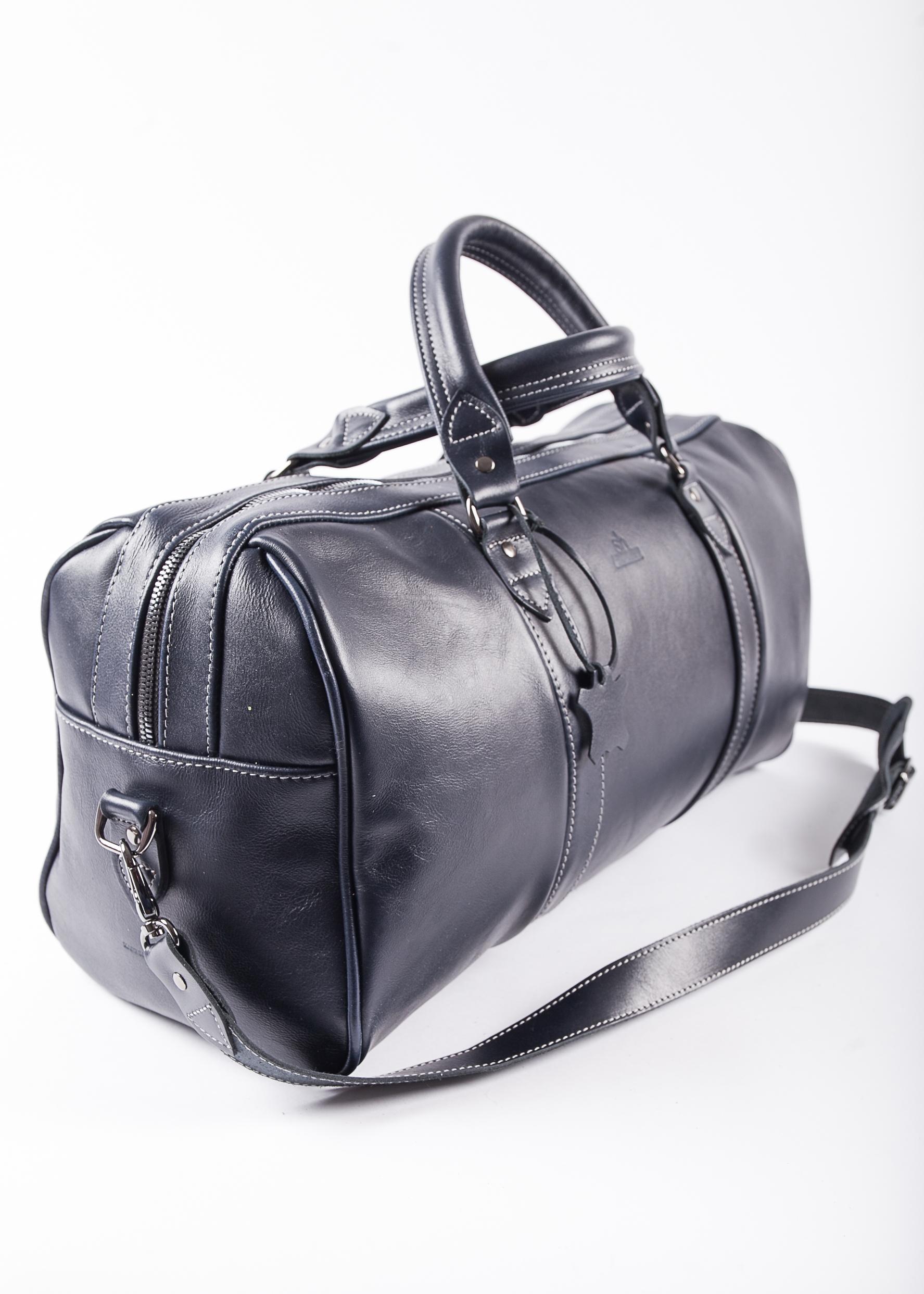 f68902fa13a Tumesinine nahast keskmine reisikott   Leather Skivers Hides